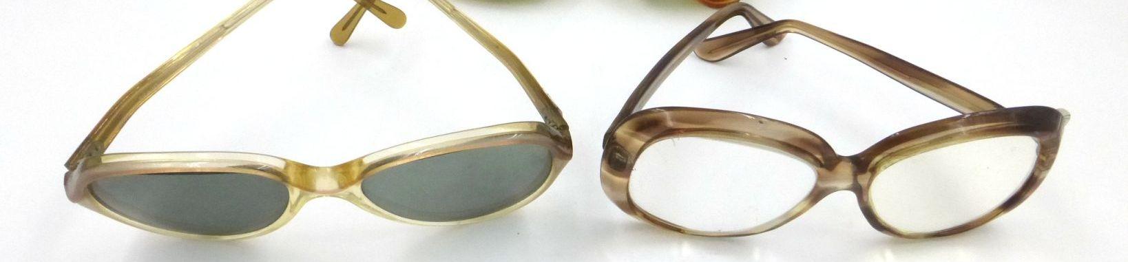 שלוש מסגרות משקפיים שנות ה50-60