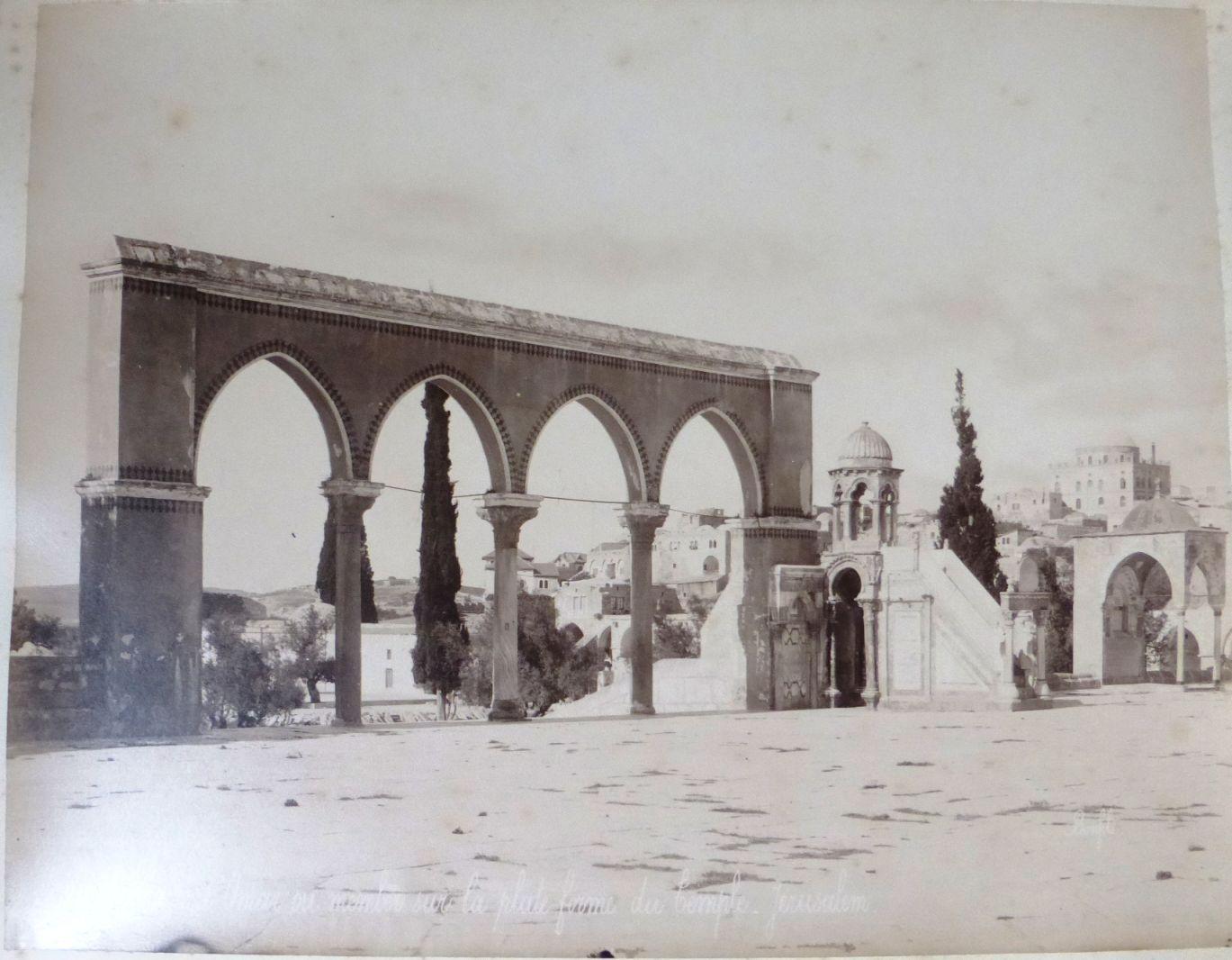 צילום קולודיון, מראה הר הבית Chaire de Omar ou memler sur la plate Fovine du Temple Jerusalem