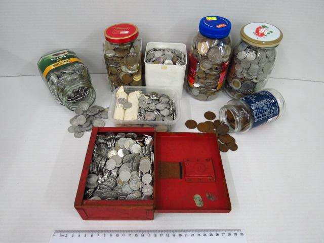 לוט  גדול של מטבעות ישראליים