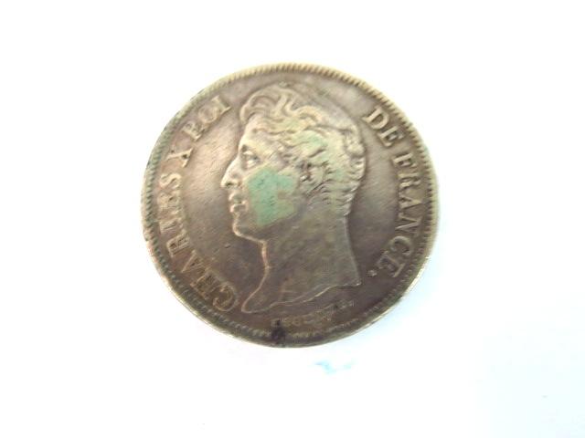 "מטבע כסף, צרפת ע""ס 5 Francs Charles X, 1828, VG"