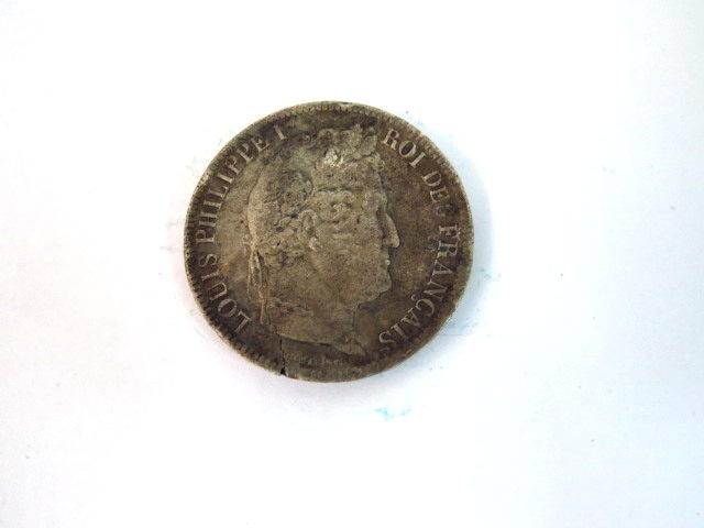 "מטבע כסף, צרפת, ע""ס 5 פרנק Louis Philippe I, 1830-1848, Strassbourg, 1831, VG"