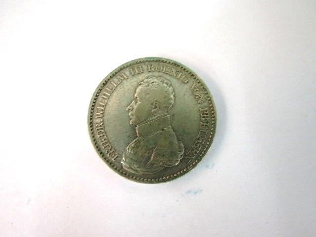 """מטבע כסף ע""""ס Ein Thaler Friedrich Wilh. III Koenig v. Preusen, 1817, Fine"""