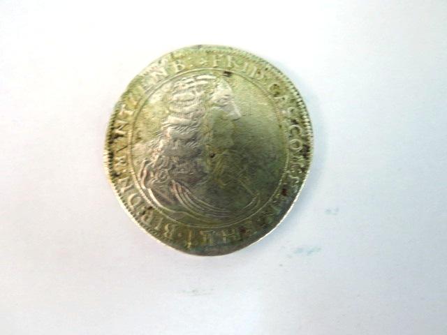 """מטבע כסף ע""""ס 60 Kreuzer Friedrich Casimir, Hannau-Lichterberg, 1672, Good"""