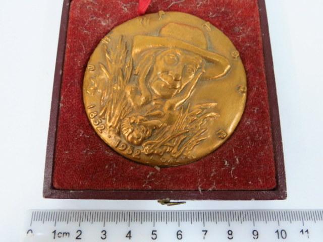 מדלית ברונזה לזכרו של J.H. Fubre 1852-1952