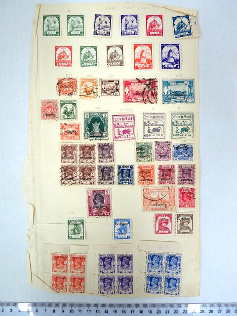 לוט בולי Burma, שלטון בריטי, מיליטרי ובורמה עצמאית