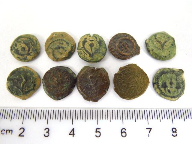 עשר מטבעות ברונזה, פרוטות תקופה חשמונאית, מצבים Fine