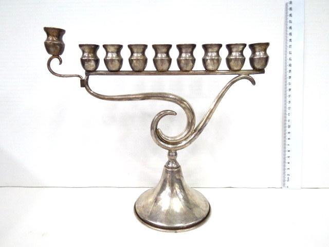 חנוכיה כסף 925 זקופה לנרות, הצורפים , ישראל, שנות ה50-60