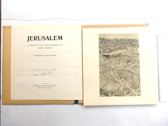 Jerusalem, 12 Facsimile plates form drawings by A.T., Vienna?