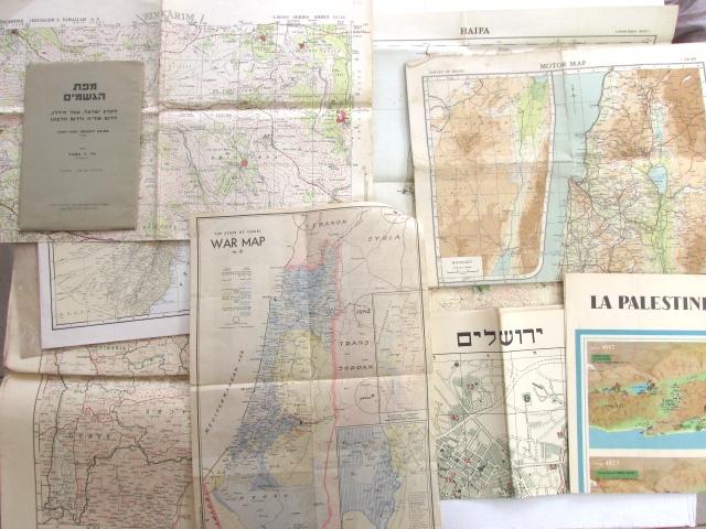 לוט של 11 מפות, ארץ ישראל פלשתינה, שנות ה30-50