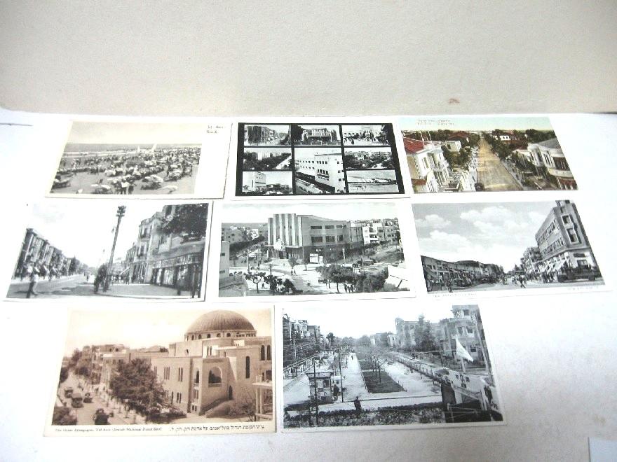 8 גלויות מראות תל-אביב שנות ה20 וה30