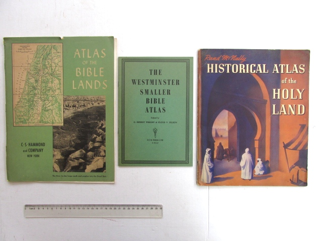 """שלושה אטלסים תנ""""כיים אנגליה וארה""""ב, שנות ה30-40"""