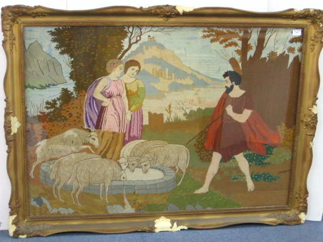 גובלן, רבקה ואליעזר ליד הבאר
