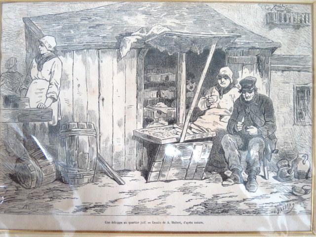 תחריט עץ, חנות קטנה ברובע היהודי