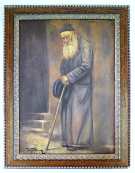 שמן על בד, יהודי זקן, חתום