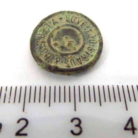 """חלק מכפתור ג'ינס, סוף המאה ה19 תוצ Levy a. Co, ארה""""ב"""
