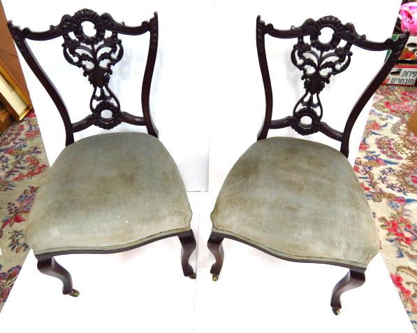 """זוג כסאות אנגליים, """"קוין אן"""""""