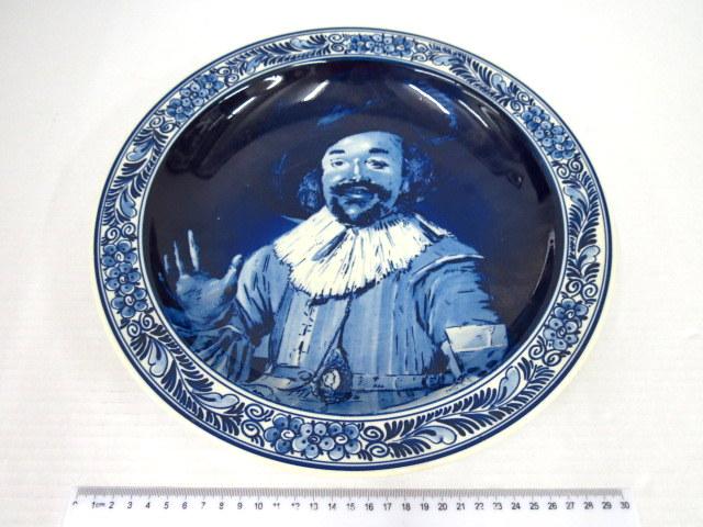 """צלחת קרמיקה תוצ Blue Delft עם ציור ע""""פ Frans Hals"""