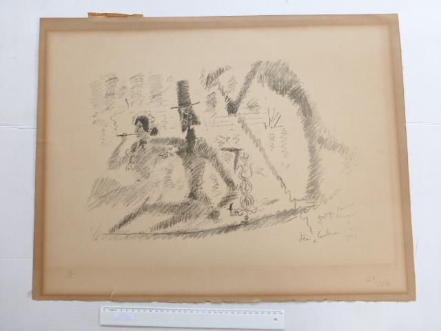 ליטוגרפיה, זוג בונציה חתום 1956 מס 61/150