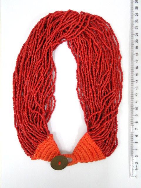 ענק חרוזי קורלים אדומים
