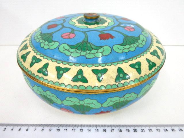 קופסת קלוזונה סינית דוגמת פרחים