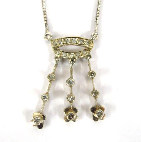 """ענק זהב לבן 8K, משובץ ב-20 יהלומים: 11 של 1-2 נק', 9 של 2-3 נק', ס""""ה כ-40 נק'"""