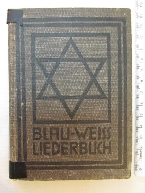 """ספרון השירים של תנועת הנוער היהודית """"בלאו וייס"""", ברלין, 1914"""