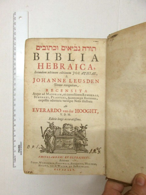 Biblia Hebraica, Johanne Leusden, Amsterdam, 1705