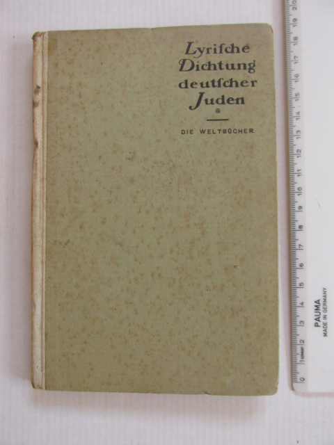 שירה של יהודים גרמנים, כולל 10 שירים של אזלה לסקר שילר, לודוויג שטראוס ועוד, הוצ די ולט ברלין,  1920