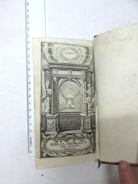 לפי סדר הפרשיות פתוחות וסתומות, עם לוח פרשות בסוף, אמשטרדם, 1701 Biblia Hebraica, Amsteladami, MDCCI