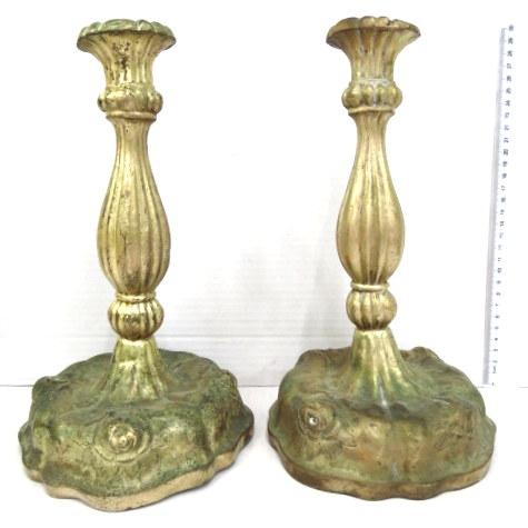 זוג פמוטי פליז עתיקים (פגמים)