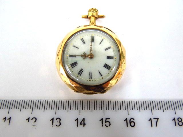 שעון כיס, קופסה ומכסה אחד זהב 9K 375 מנגנון מצב עבודה, לאישה