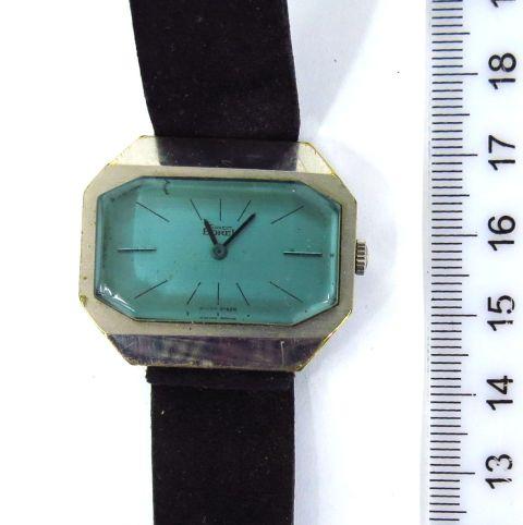 שעון יד תוצ Ernst Borel, שוויץ קופסה מתכת, מנגנון מצב עבודה, לאישה