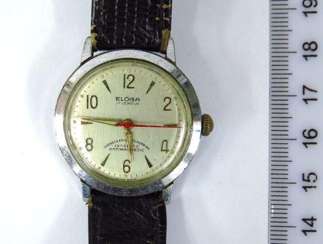 שעון יד תוצ Eloga,  שוויץ קופסה מתכת, מצב עבודה