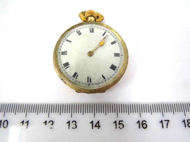 שעון כיס, קופסה ושני המכסים זהב 14K, מנגנון מצב עבודה
