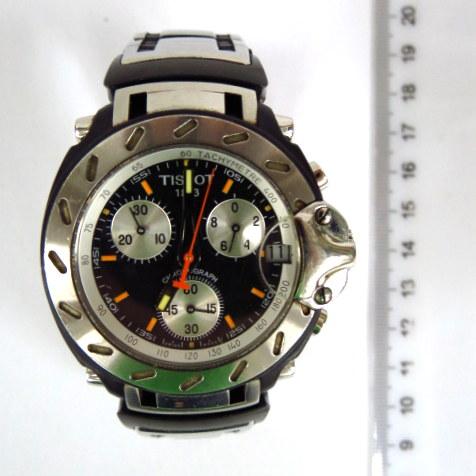 שעון יד תוצ Tissot דגם Race Chronograph-1853, צמיד וקופסה פלדה אל-חלד, זכוכית ספיר