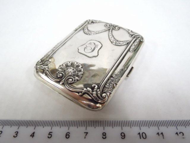 קופסת סיגריות קטנה, כסף 800 סוף המאה ה19