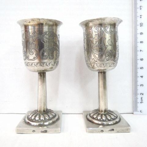 זוג גביעים, כסף 12, המאה ה18