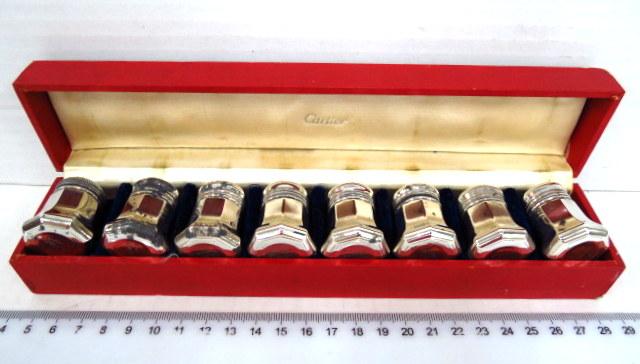 מע' מלחיות אישיות, כסף Sterling תוצ Cartier, פאריז, חתומים, בקופסה מקורית (פגם)