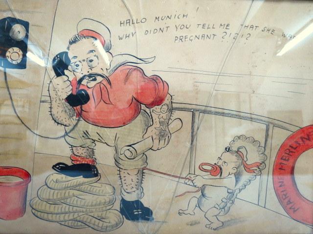 קריקטורה, הדפסה ליטוגרפית בעניין הסכמי מינכן