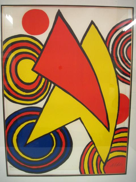 ליטוגרפיה צבעונית חתום 132/150 Composition with Stabile