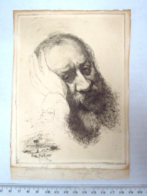 """רישום דיוקן """"ויבוא לציון גואל"""" 1902"""