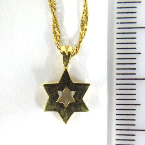שרשרת עם תליון מגן דוד זהב 14K