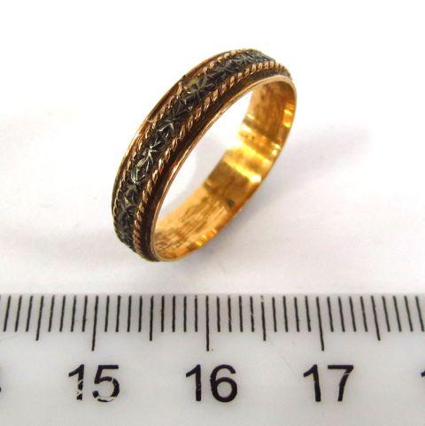 טבעת זהב 14K, עבודת יד תימנית