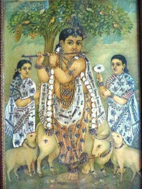 תמונת קדושים הודית, קרישנה מנגן בחליל
