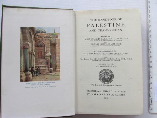 The Handbook of Palestine and Trans-Jordan, London, 1936, 2nd Ed.