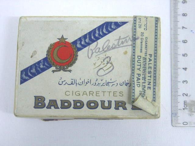 קופסת סיגריות Baddour ארץ ישראל, תקופת המנדט